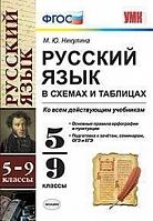 УМК Русский язык в схемах и таблицах. 5-9 класс.  (ко всем действующим учебникам). / Никулина. (ФГОС).