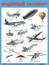 Плакат. Воздушный транспорт. (50х70)